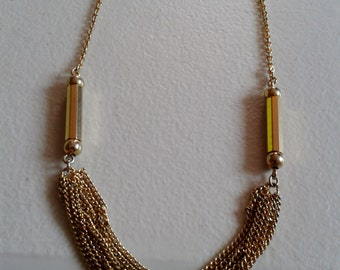 Necklace - Gold Colored Swag
