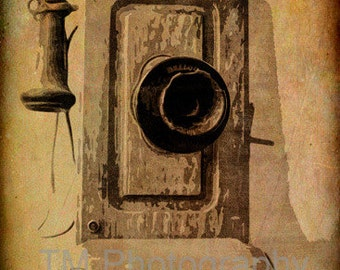Antique Phone - Old Wooden Phone - Telephone - Antique Photography - Fine Art Photography
