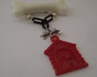 In The Doghouse Bad Dog Novelty Retro Inspired Brooch