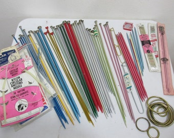 Knitting Needle Assortment All Size single and double point circular plus more