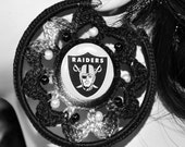 Oakland Raiders Hoop Earrings NFL