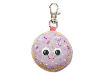 Cute Keychain - Sugar Cookie Keyring - Fairy Kei Bag Charm - Kawaii Key Chain - Cute Charm - Cute Bag Charm
