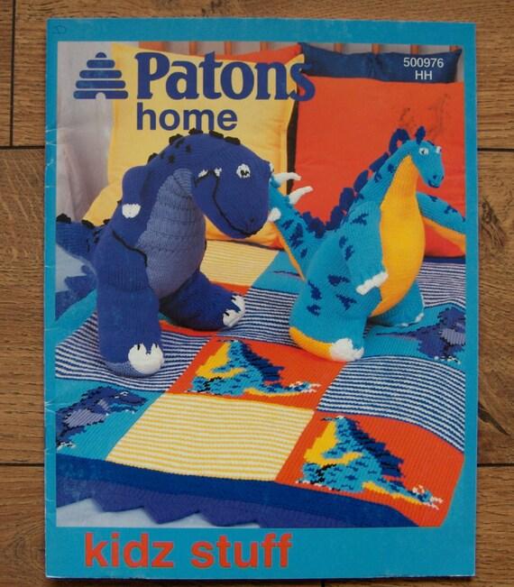 Patons Knitting Patterns Toys : 2002 knitting patterns Patons KIDZ STUFF Dinosaurs Airplane