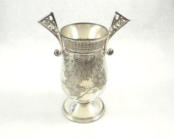 Victorian Era Silver Plate Vase by Rogers, Smith Co.
