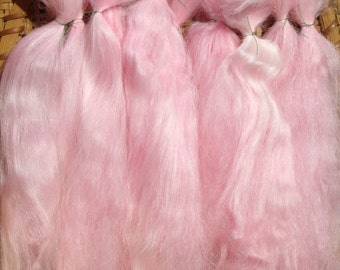 Combed Suri Alpaca Doll Hair 0.6 of an ounce 7-8 inches long Soft Pink