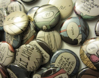 Comic Book Quotes: Nicknames (Pinbacks or Magnets)