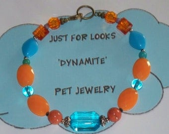Dog Necklace - Pet Jewelry - Dog Lovers - Just for Looks Dynamite Pet Jewelry - Handmade Jewelry - Pets - Cat Necklace - Necklace - Donate