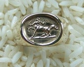Sterling Silver or 14k Gold Centaur Ring