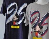 Faded Distressed Vintage Mickey Mouse Tees Tshirt Florida California Vacation Walt Disney World Tee LARGE
