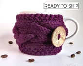 Coffee Sleeve, Purple Gifts, Coffee Cozy, Gifts Under 20, Tea Cozy, Coffee Mug Cozy, Coffee Cup Cozy, Coffee Cup Sleeve, Coffee Gifts