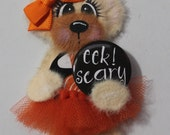 EEk! Scary Tear Bear Paper Piecing Embellishment for Scrapbooking, Card Marking and other Crafts! Super Cute for Halloween:0