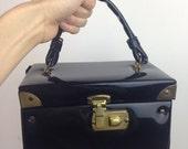 VTG 60s Vinyl Box Purse Bag