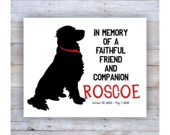 Golden Retriever Memorial, Golden Retriever Art, Golden Retriever Print, Chocolate Lab Art, Dog Memorial, Pet Loss, Dog Memorial
