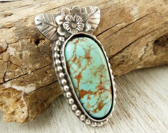 Sterling Silver Turquoise Ring, Light Green Blue, Sterling Silver Gemstone Ring, Real Turquoise, Western Jewelry, Boho Turquoise Ring