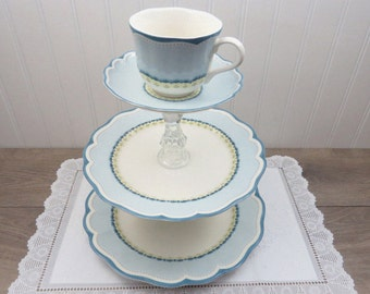 3-Tier Dessert Stand made with Lenox Provencal Sky China