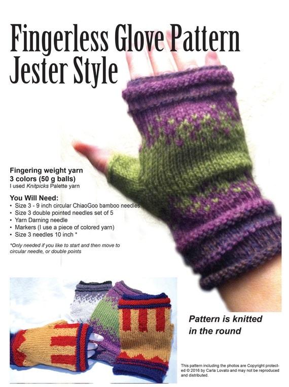 Gloves fingerless knitting Pattern Downloadable pattern