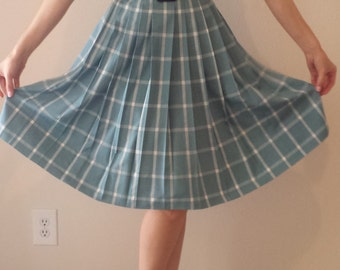 Darling 1950's Plaid Cotton Dress