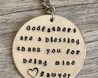Gift for godfather, gift for godparents, gift for god father, keychain gift for godparents, gift, godfather, god parent, are a blessing