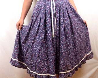 Sweet Gunne Sax Calico Lace Boho Prarie Skirt - Gunnies by Jessica McClintock