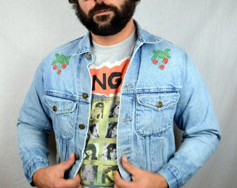 Great Embroidered Chambray Denim Pearl Snap Shirt