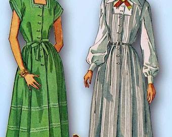 1940s Vintage Simplicity Sewing Pattern 2459 Misses Uncut Maternity Dress Sz 12