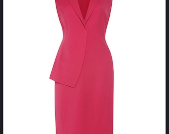 DORY vest  dress pencil custom made to measure ALL SIZES classic