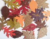 Fall leaves with personalization - 50 pieces