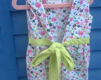 Girls Pinafore Style floral Apron