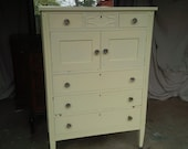 Hold/Dresser Wardrobe VINTAGE Cottage Chest of Drawers Poppy Cottage Painted Furniture Armoire Farmhouse
