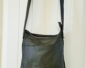 Handmade - One Of A Kind - All Leather Moss Green Crossbody Bag