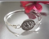 Round Baby Bangle, Personalized Child Bracelet, Sterling Silver, Initial Bracelet, New Baby Gift, Name Bracelet, Christening Jewelry