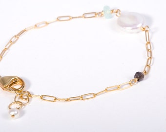Delicate Gold Jewelry, Delicate Bracelet, Delicate Silver Bracelet, Gemstone Bracelet, Gold Chain Bracelet, Silver Chain Bracelet, Beach