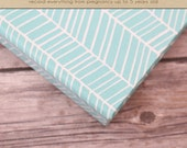 Baby  Book (Pregnancy - 5 Years) - Teal Herringbone (136 designed journaling pages & personalization included with album)
