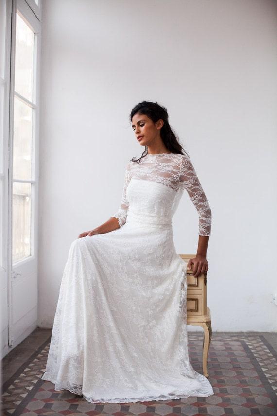 Vintage wedding dress wedding dress lace wedding dress