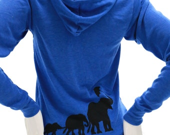 Elephants| Full zip Soft Lightweigt hoodie| art by MATLEY| Umbrella| elephant| Great gift|  Men's| Women's| Zen| Yoga.