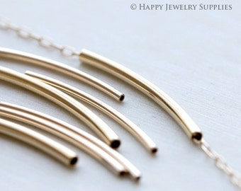 20/50 pieces Nickel Free -High Quality Golden / Silver / Rose Gold Plated Brass Filled tube / Spacer Bar (ZG222)