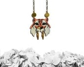 Small Tiger necklace No. 1, warrior tiger necklace, animal jewelry, tiger jewelry, wild cat - PLASTIC