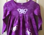 Purple Girls Dress (6), Girls Butterfly Dress, Purple Butterfly Dress, Girls Purple Dress, Girls Long Sleeve Dress, Long Sleeve Dress