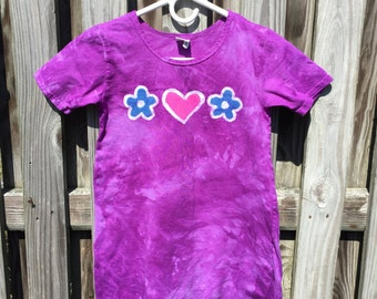 Purple Girls Dress, Girls Short Sleeve Dress, Girls Summer Dress, Batik Girls Dress, Flower Girls Dress, Girls Flower Dress (8)