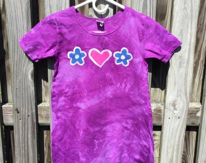 Purple Girls Dress, Girls Short Sleeve Dress, Girls Summer Dress, Batik Girls Dress, Flower Girls Dress, Girls Flower Dress (8)