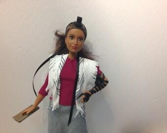Tefillin Barbie, brown hair, curvy body, Brown skin, & free worldwide shipping