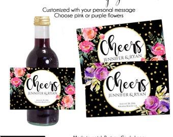 Mini Wine or Champagne Label, Custom Wine Label, Printable Wine Label, Mini Wine Label, Mini Champagne Label, Small Wine Label