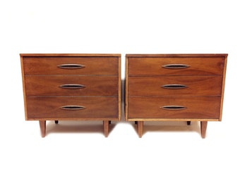Pair of MCM Dressers In Wood