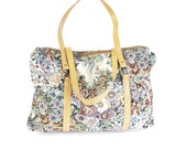 Vintage Floral Tapestry Weekender Bag Floral Print Tote Bag Shoulder Tote Purse Girly Grunge Large Purse Overnight Carpet Bag Carry On