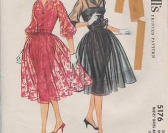 McCalls 5176 / Vintage 50s Sewing Pattern / Evening Dress And Slip / Size 16 Bust 36