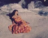 1950s Julie Miller Taffeta Party Dress... 50s Designer Vintage... Parachute Skirt