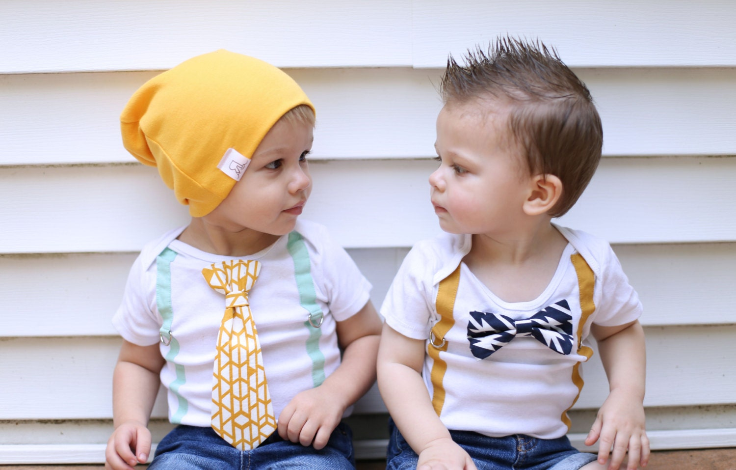 Boho Baby Boy Clothes Mustard Gold mint navy tribal outfit