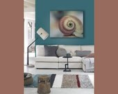 Beach House Canvas, Blue Seashell, Canvas Wall Art, Teal, Brown, 16x20 Canvas, Rustic, Nautical, Canvas Wall Decor