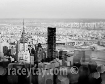 Black and White New York City Print, Manhattan Skyline, New York Photography, NYC Art, New York Wall Art Print