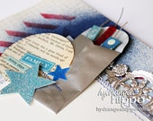 "4th of JULY Firecracker finished TWO 12""x12"" Scrapbook Pages Double Layout"